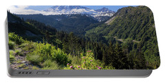 Mount Rainier From Scenic Viewpoint Portable Battery Charger