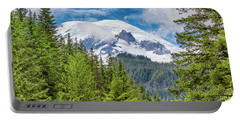 Portable Battery Charger featuring the photograph Mount Rainier View by Stephen Stookey