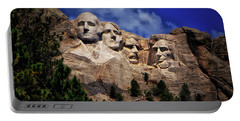 Mount Rushmore 008 Portable Battery Charger by George Bostian