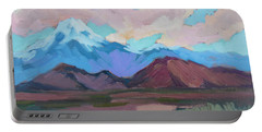 Portable Battery Charger featuring the painting Mount San Gorgonio by Diane McClary