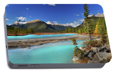 Portable Battery Charger featuring the photograph Mount Saskatchewan by John Poon