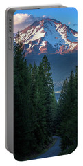 Portable Battery Charger featuring the photograph Mount Shasta - A Roadside View by John Hight