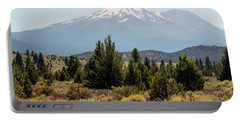 Portable Battery Charger featuring the photograph Mount Shasta And Shastina by Frank Wilson