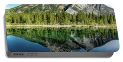 Mount Skogan Reflected In Mount Lorette Ponds, Bow Valley Provin Portable Battery Charger