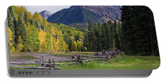 Mount Sneffels In Autumnn Portable Battery Charger