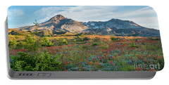 Mount St Helens Fields Of Wildflowers Portable Battery Charger by Mike Reid