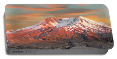 Mount St Helens Sunset Washington State Portable Battery Charger