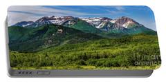 Mount Timpanogos Panorama - Wasatch Mountains - Utah Portable Battery Charger