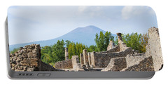 Mount Vesuvius Beyond The Ruins Of Pompei Portable Battery Charger
