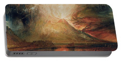 Mount Vesuvius In Eruption Portable Battery Charger
