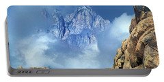 Portable Battery Charger featuring the photograph Mount Whitney Clearing Storm Eastern Sierras California by Dave Welling