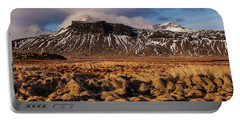 Portable Battery Charger featuring the photograph Mountain And Land, Iceland by Pradeep Raja Prints