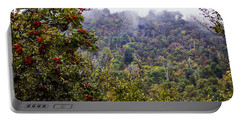 Mountain Ash On A Misty Mountain Portable Battery Charger