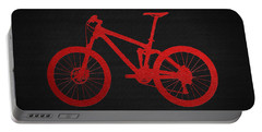 Mountain Bike - Red On Black Portable Battery Charger