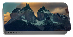 Mountain Evening Portable Battery Charger by Andrew Matwijec