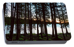 Portable Battery Charger featuring the photograph Mountain Forest Lake by James BO Insogna