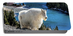 Mountain Goat At Lower Blue Lake Portable Battery Charger