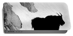 Mountain Goat Shadow Portable Battery Charger by Colleen Coccia