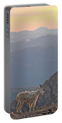 Portable Battery Charger featuring the photograph Mountain Goat Sunset by Scott Mahon