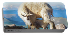 Mountain Goats Nanny And Kid Portable Battery Charger