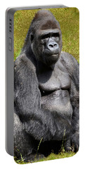 Mountain Gorilla Portable Battery Charger by Ellen Henneke