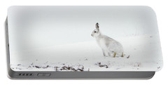 Mountain Hare Side On Portable Battery Charger