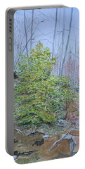 Mountain In Fall Portable Battery Charger by Christine Lathrop