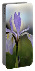 Mountain Iris With Bud Portable Battery Charger