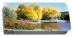 Mountain Lake Autumn Portable Battery Charger