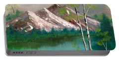 Mountain Lake Portable Battery Charger by Denise Tomasura