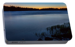 Portable Battery Charger featuring the photograph Mountain Lake Glow by James BO Insogna