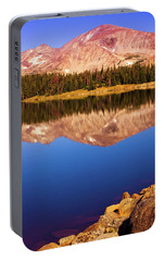 Portable Battery Charger featuring the photograph Mountain Lake Reflections by John De Bord