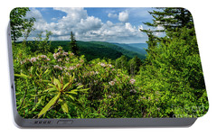 Portable Battery Charger featuring the photograph Mountain Laurel And Ridges by Thomas R Fletcher