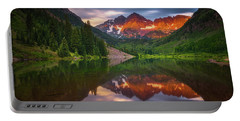 Portable Battery Charger featuring the photograph Mountain Light Sunrise by Darren White