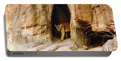Mountain Lion In The Desert Portable Battery Charger