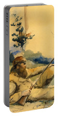 Mountain Man Portable Battery Charger by Charles Schreyvogel