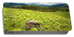Mountain Meadow Impressionist Digital Art Portable Battery Charger