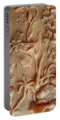 Mountain Meadow Original Clay Relief - Geranium Detail Portable Battery Charger by Dawn Senior-Trask