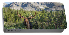 Portable Battery Charger featuring the photograph Mountain Moose by Chris Scroggins
