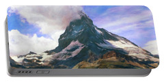 Portable Battery Charger featuring the photograph Mountain Of Mountains  by Connie Handscomb