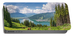 Mountain Panorama Beauty Portable Battery Charger by JR Photography