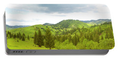 Mountain Panorama In Bucovina County - Romania Portable Battery Charger