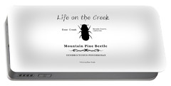 Mountain Pine Beetle Black On White Portable Battery Charger