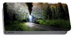 Portable Battery Charger featuring the photograph Mountain Railway - Morning Whistle by Robert Frederick