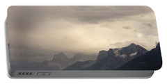 Portable Battery Charger featuring the photograph Mountain Storm by Inge Riis McDonald