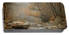 Mountain Stream In Fall #2 Portable Battery Charger by Tom Claud