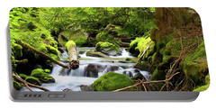 Mountain Stream In The Pacific Northwest Portable Battery Charger