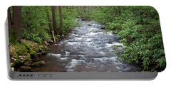 Portable Battery Charger featuring the photograph Mountain Stream Laurel by John Stephens