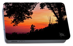 Portable Battery Charger featuring the photograph Mountain Sunrise by Meta Gatschenberger