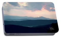 Portable Battery Charger featuring the photograph Blue Ridge Mountain Sunset by Meta Gatschenberger
